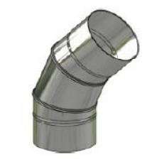 Koleno kouřovodu nerez stálé ø 180mm / 45° 0,6mm