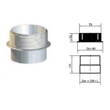 Redukce pro přípojení do keramického komínu 180/180mm NEREZ